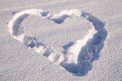 Coração da neve Fotografia de Stock Royalty Free