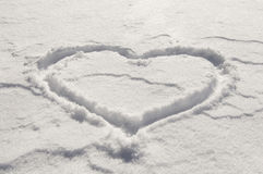 Coração da neve Foto de Stock