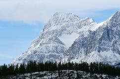 Coração da neve da montanha Fotos de Stock Royalty Free