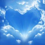 Coração da nuvem Fotografia de Stock Royalty Free