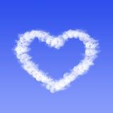Coração da nuvem Fotos de Stock Royalty Free