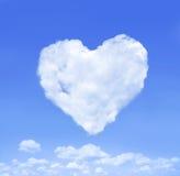 Coração da nuvem Imagens de Stock