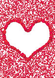 Coração da pétala de Rosa imagem de stock
