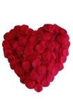 Coração da pétala de Rosa Fotografia de Stock Royalty Free