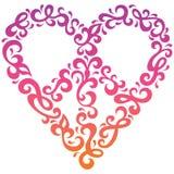 Coração da paz ilustração royalty free