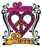 Coração da paz do amor Fotografia de Stock Royalty Free