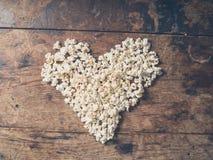 Coração da pipoca Foto de Stock