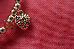 Coração da prata esterlina Fotos de Stock Royalty Free