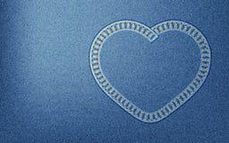 Coração da sarja de Nimes Imagens de Stock