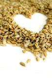 Coração da semente do girassol imagem de stock royalty free