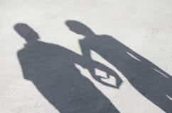 Coração da sombra Imagem de Stock Royalty Free