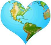 Coração da terra ilustração do vetor