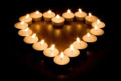Coração da vela Imagens de Stock