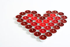 Coração da vela Fotografia de Stock Royalty Free