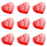 Coração da venda Imagem de Stock Royalty Free