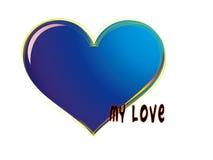 Coração dado forma Ilustração Stock