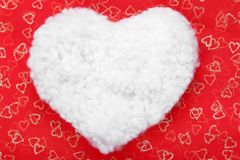 Coração dado forma algodão Fotos de Stock Royalty Free