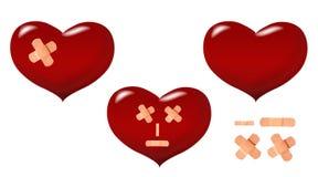 Coração danificado ilustração stock