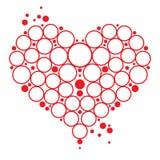 Coração das bolhas Imagens de Stock