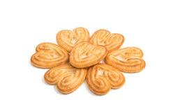 Coração das cookies fotografia de stock