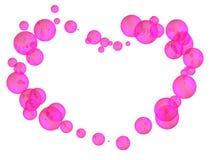 Coração das esferas Fotografia de Stock Royalty Free