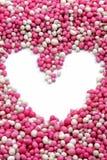 Coração das esferas coloridas pequenas Fotografia de Stock Royalty Free