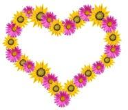 Coração das flores Fotografia de Stock Royalty Free