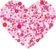 Coração das flores ilustração stock
