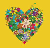 Coração das flores Imagens de Stock Royalty Free