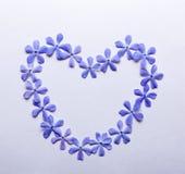 Coração das flores fotos de stock royalty free