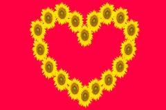 Coração das flores Imagens de Stock