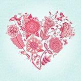 Coração das flores ilustração do vetor