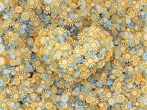 Coração das flores da camomila Ilustração do Vetor