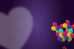 Coração das FO do balão Fotografia de Stock Royalty Free