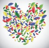 Coração das folhas ilustração royalty free