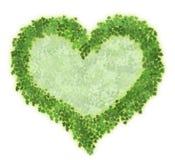 Coração das folhas Fotografia de Stock
