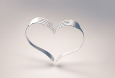 Coração das forquilhas Fotografia de Stock Royalty Free