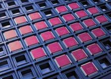 Coração das microplaquetas do processador central Fotografia de Stock