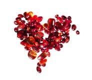 Coração das partes de âmbar vermelho Foto de Stock Royalty Free