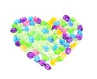 Coração das pedras transparentes Fotografia de Stock