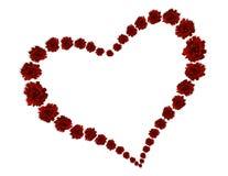 Coração das rosas Imagem de Stock