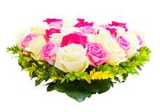 Coração das rosas Foto de Stock Royalty Free