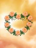 Coração das rosas Ilustração do Vetor