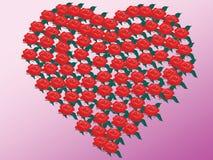 Coração das rosas Imagens de Stock Royalty Free