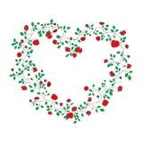 Coração das rosas Foto de Stock
