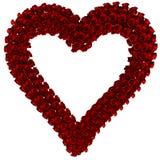 Coração das rosas do quadro Imagem de Stock