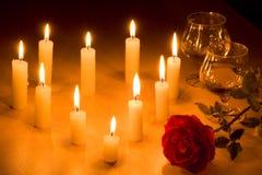 Coração das velas Fotografia de Stock Royalty Free