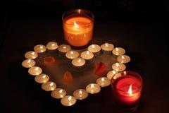 Coração das velas Imagem de Stock