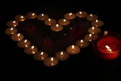 Coração das velas Fotos de Stock