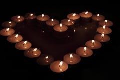 Coração das velas Foto de Stock Royalty Free